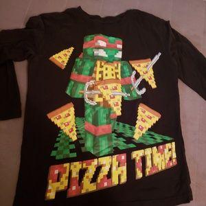 NWT TMNT Teenage Mutant Ninja Turtles boys t-shirt size 4//5 Minecraft
